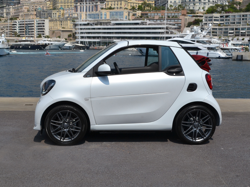 location auto fortwo cabriolet électrique smart - Monaco Luxury Rent