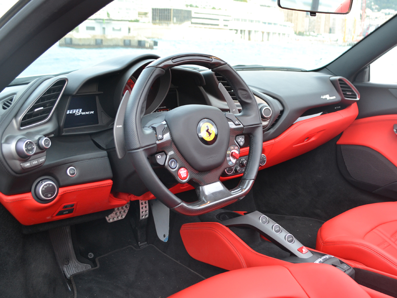 to rent 488 Spider Ferrari - Monaco Luxury Rent