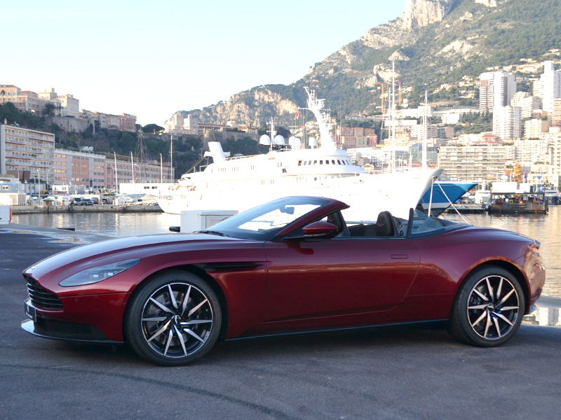 for rent DB11 Volante Aston Martin chez Monaco Luxury Rent