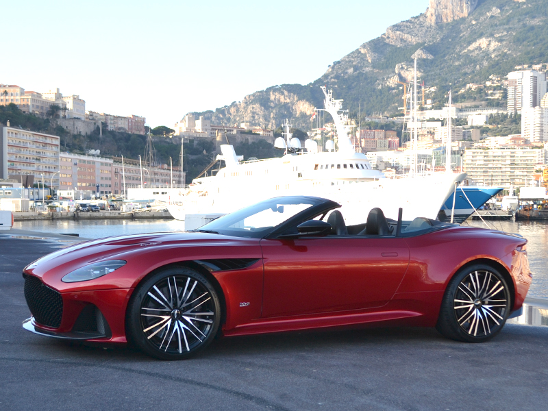 for rent DBS Superleggera Volante Aston Martin chez Monaco Luxury Rent