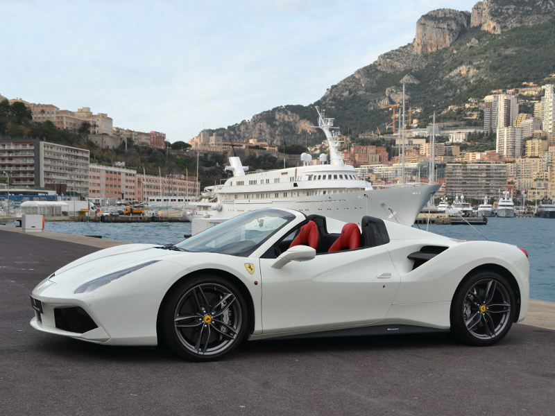 for rent 488 Spider Ferrari chez Monaco Luxury Rent