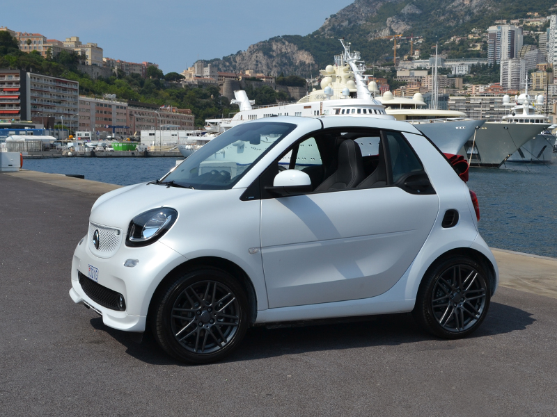 for rent fortwo convertible electric smart chez Monaco Luxury Rent